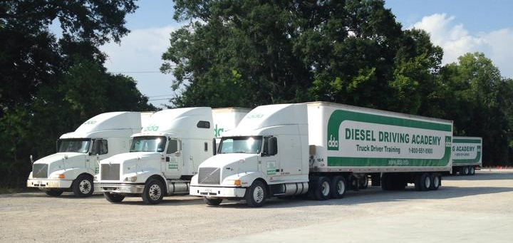 Trucks at DDA for students to train on
