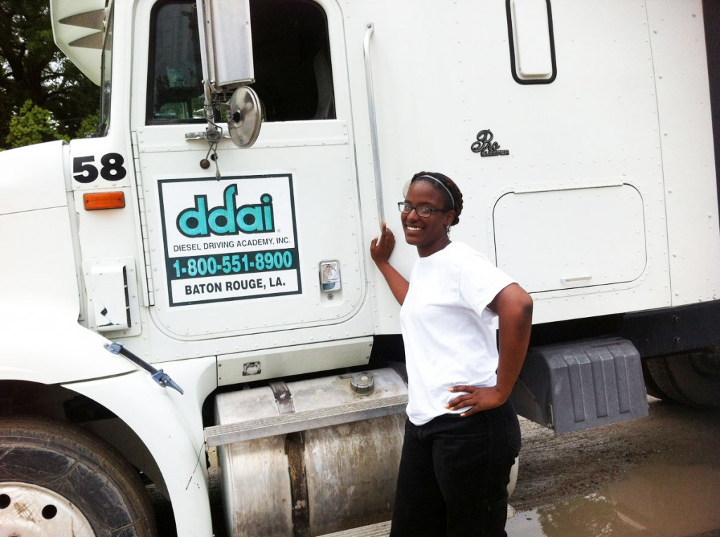 current DDA truck driver training student