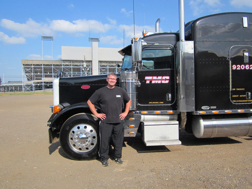 David Pierce and truck