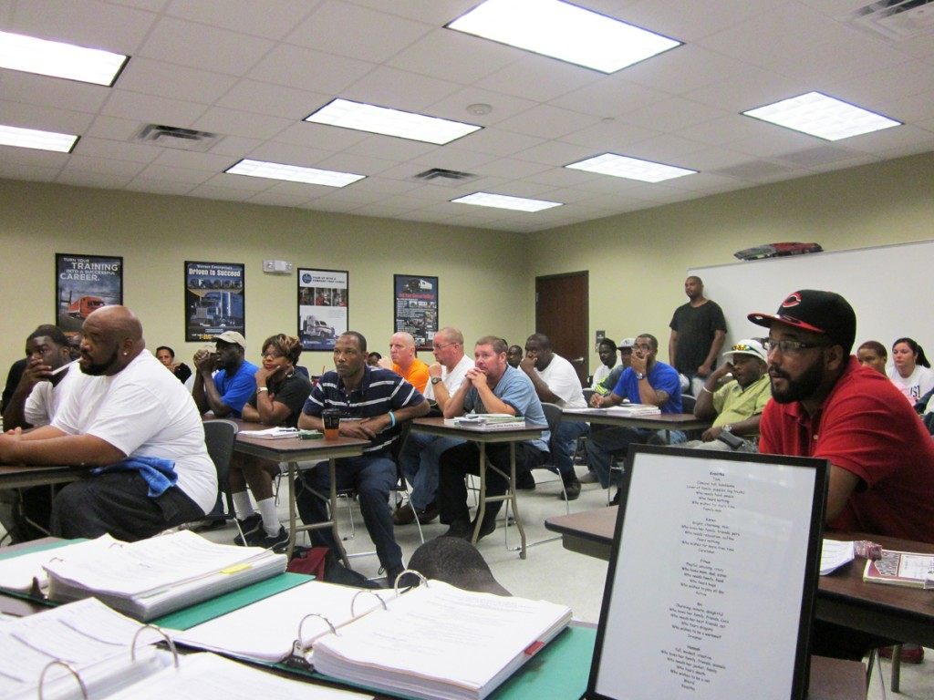 DDA Baton Rouge CDL students focus on their classroom work