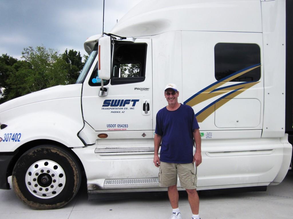 DDA graduate with Swift truck