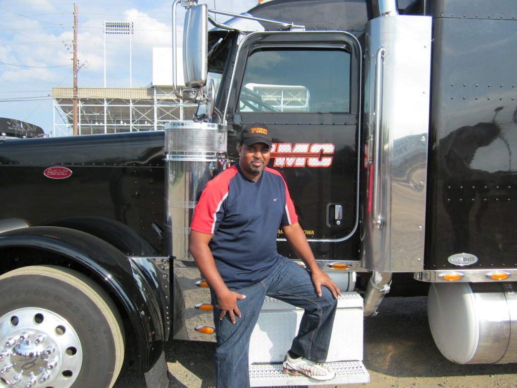 DDA CDL training graduate Deon Anthony driving for TMC
