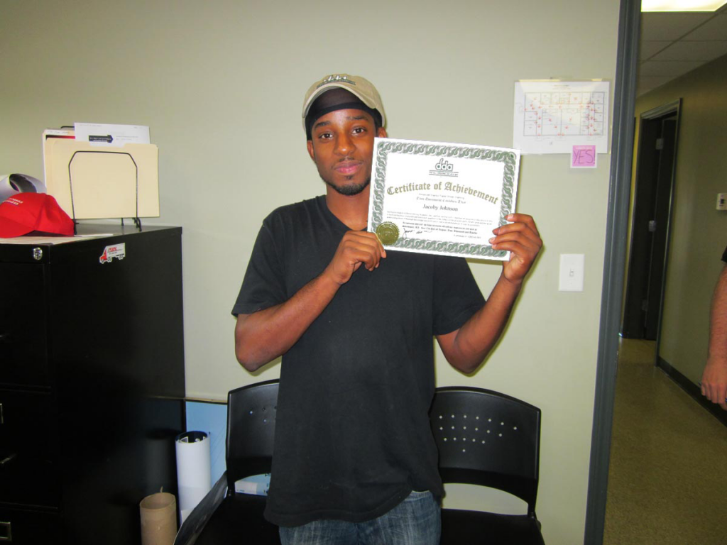 Jacoby Johnson CDL Training Graduate