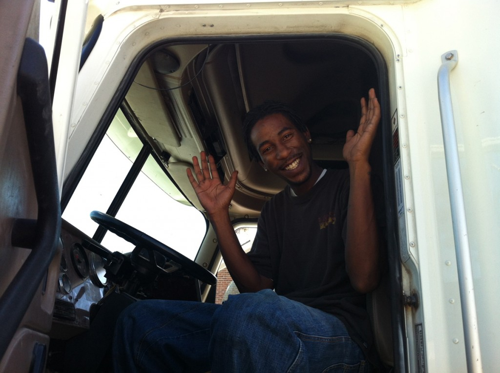 DDA CDL student Kendrick Jones passes his final CDL test