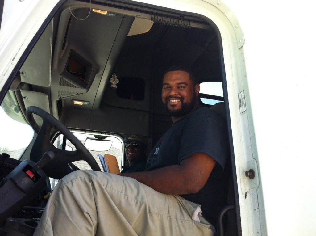 DDA CDL graduate Matthew Noel passes final test