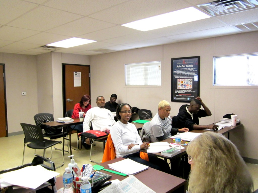 CDL training students at DDA Shreveport campus