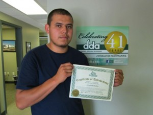 new DDA graduate Jeremiah Bradley