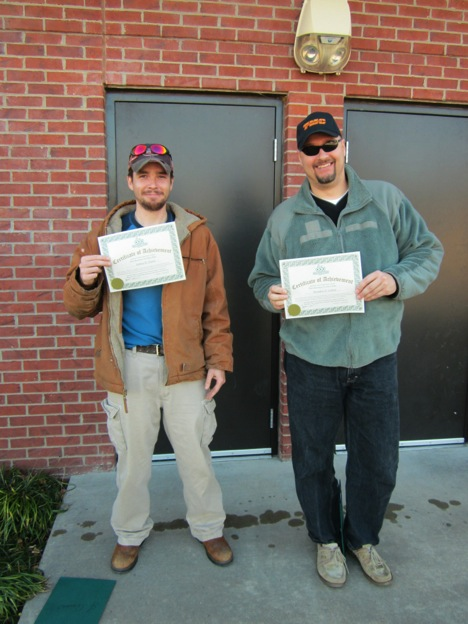 CDL gradautes Joshua Quinn and Brandon Linton