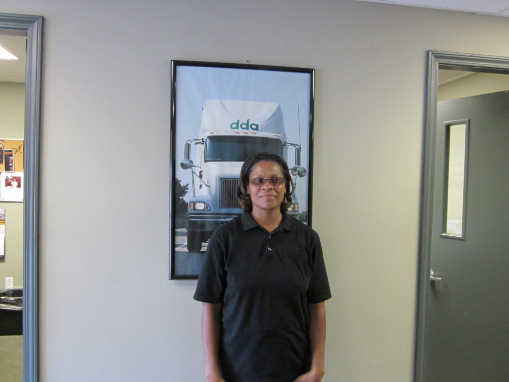 new Little Rock trucking student Christy Fitch