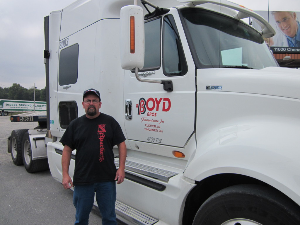 trucking graduate Jimmy Hudson