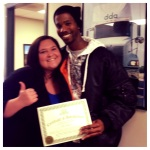 DDA Little Rock graduate, Billy Jones with admissions rep Candace Morgan
