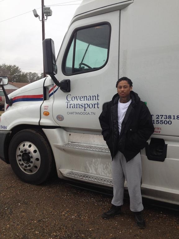 DDA Shreveport CDL graduate at Covenant Transport