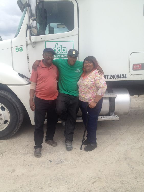 New DDA Baton Rouge trucking graduate Timothy Haney