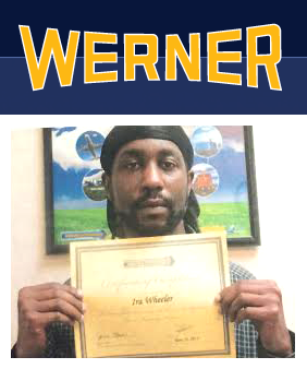 DDa graduate goes to drive for Werner