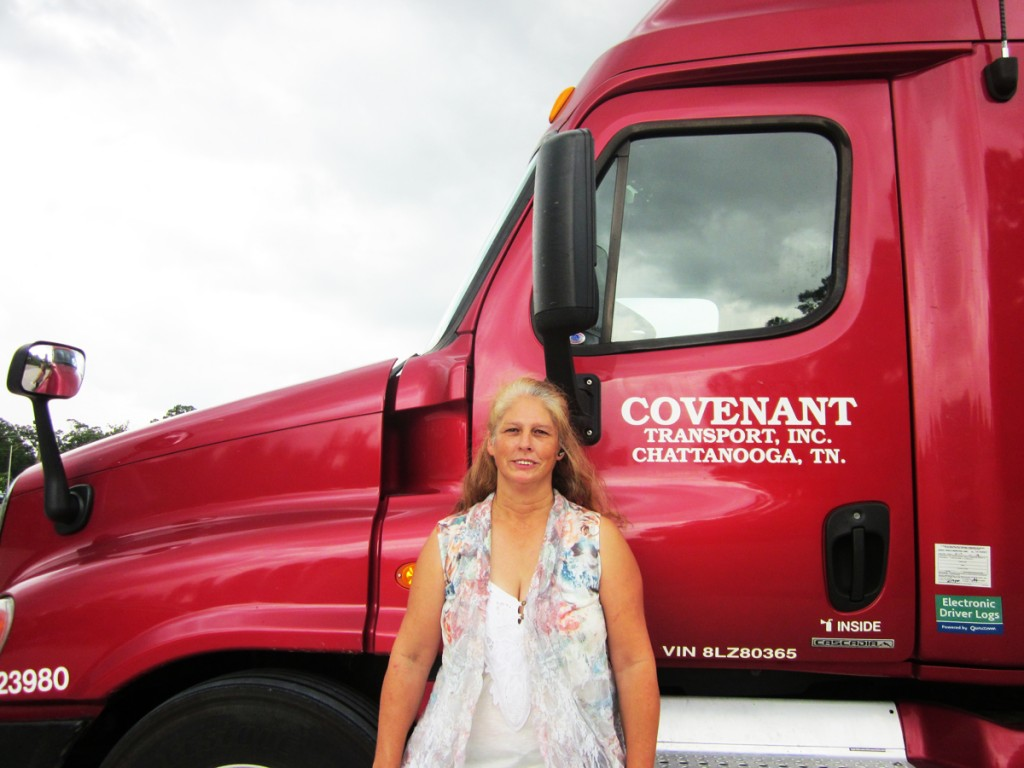 DDA graduate with Covenant truck