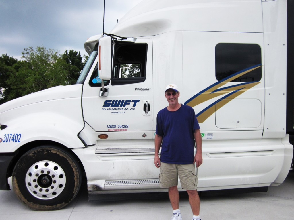 DDA graduate with Swift truck
