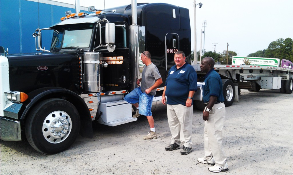 Checking out TMC rig at DDA Little Rock career fair