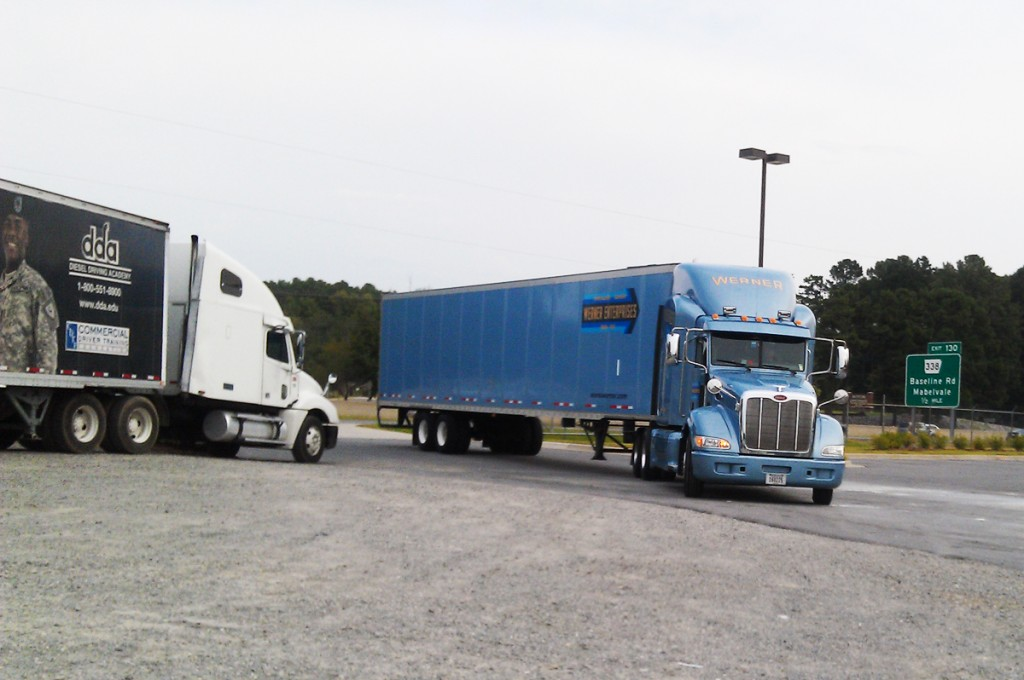 Werner Truck at Career Fair DDA LIttle Rock