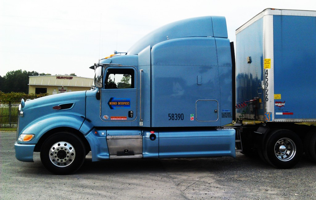 Werner Truck at Career Fair DDA Little Rock campus