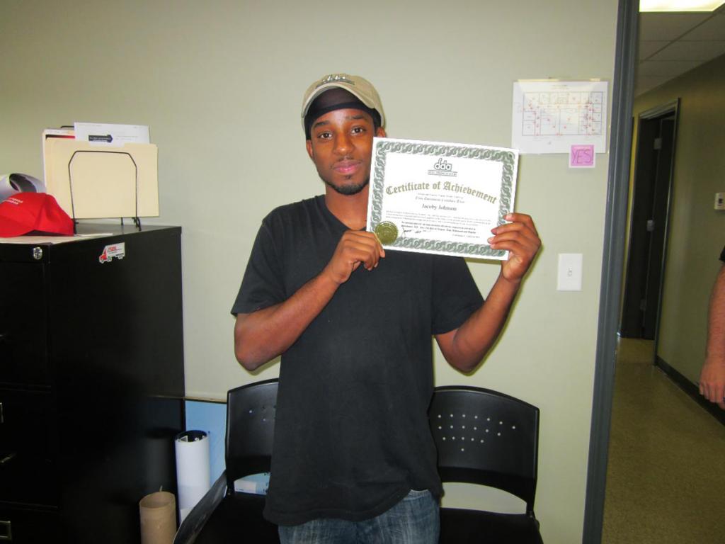 Jacoby Johnson CDL Training Graduate