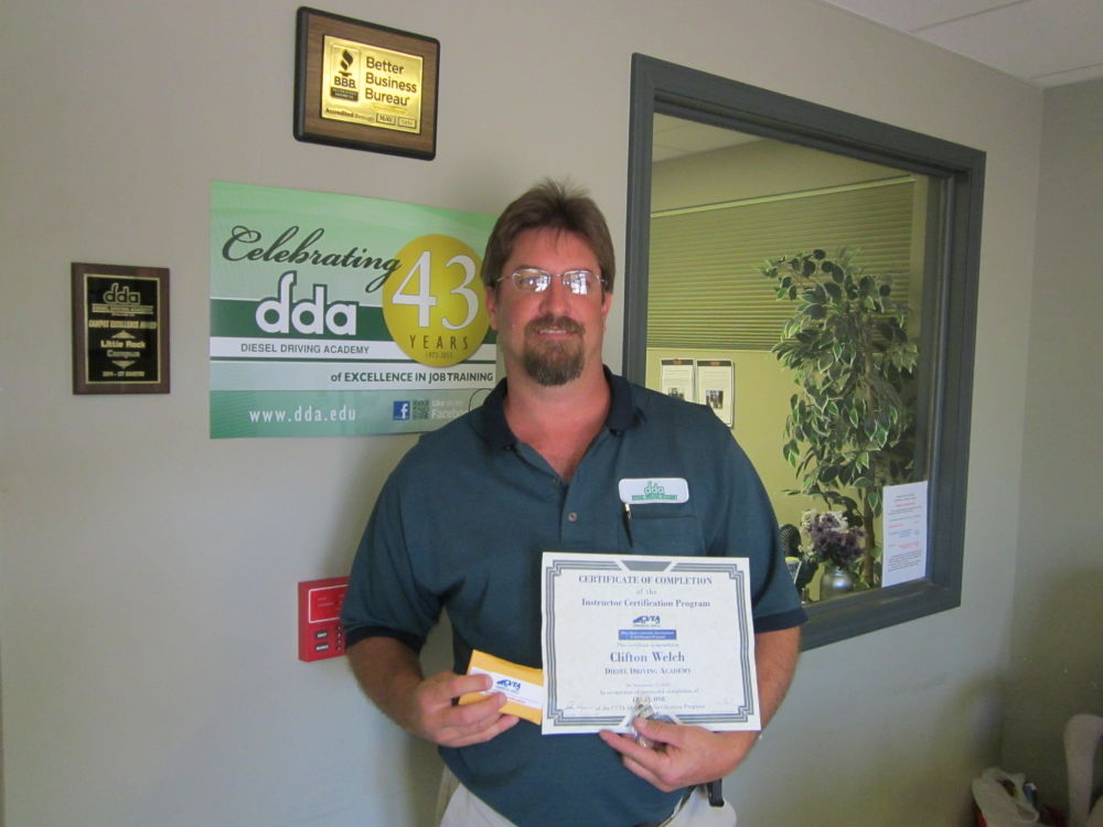 Little Rock instructor Cliff Welch receives Level 2 of the CVTA Instructor Certification Program