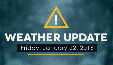 DDA Little Rock weather update for January 22, 2016