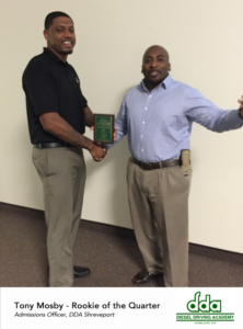 Rookie of the Quarter - DDA Shreveport