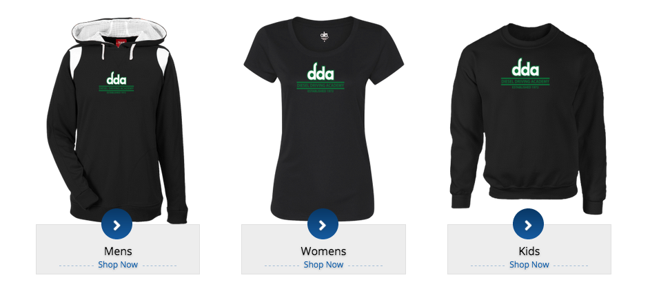 photo of branded DDA clothing for sale online