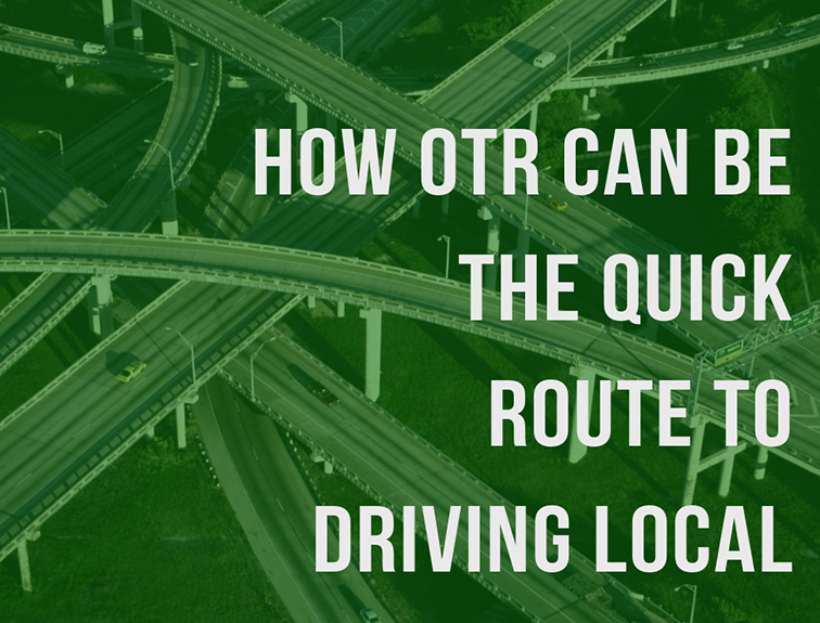 image of interstate highway bridges with the text 'how otr can be the quick route to driving local'